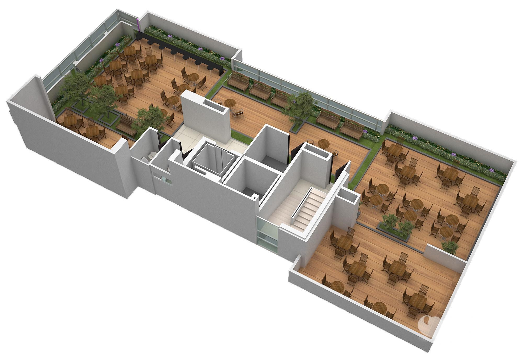 Planta Isometrica Terraza