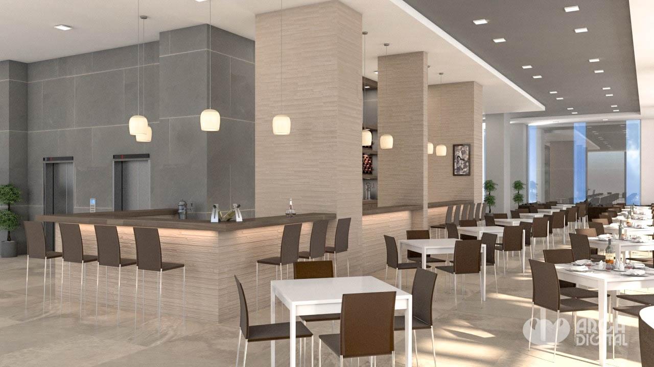 Cafeteria, oficinas